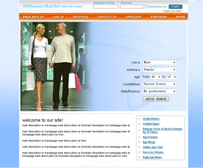 millionairemate is a desktop dating website where wealth and beauty ...